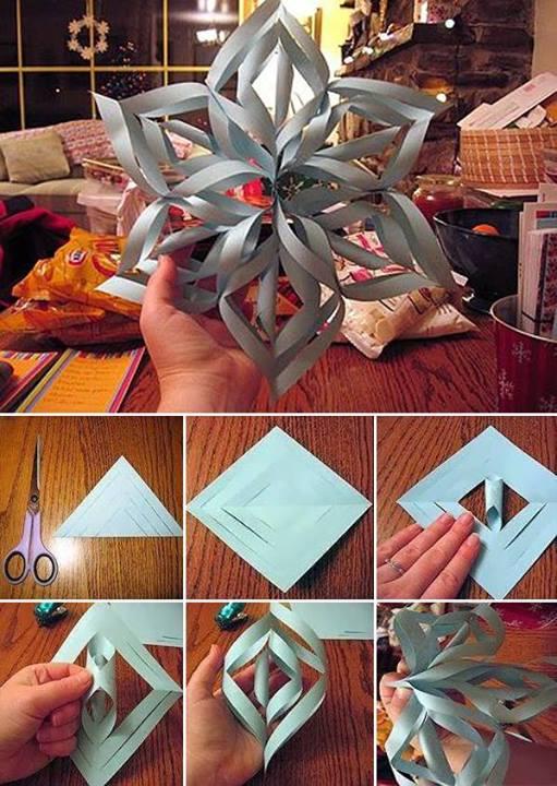 Make a giant 3D snowflake
