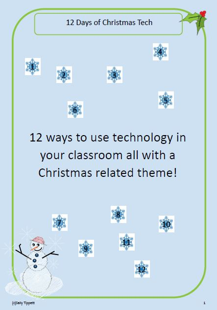 12 Days of Christmas Tech Activity Pack